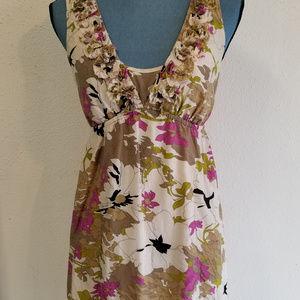 Ann Taylor Loft Sleeveless Silk/Cotton Dress